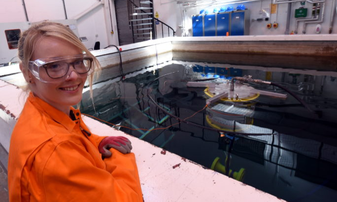 Oceanlab, Newburgh. In the picture is Lindsay Wylie, product development chemist