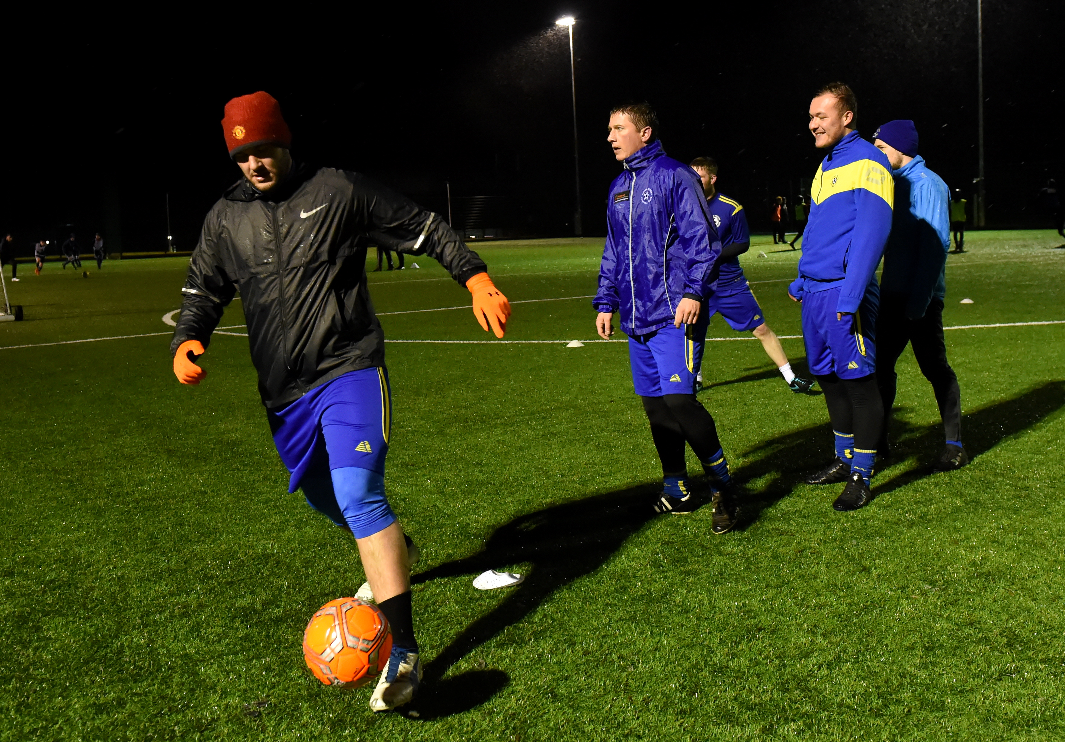 Rothie Rovers training for their Scottish Amateur Cup game.