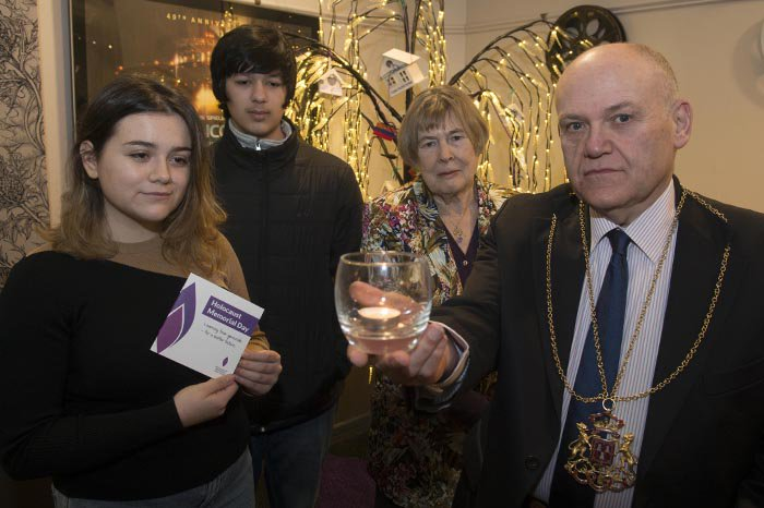 Lord Provost Barney Crockett at Sunday's event