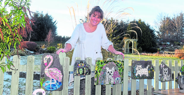 Maggie Patience, owner of Pretty Rubbish Mosaics, with her collection