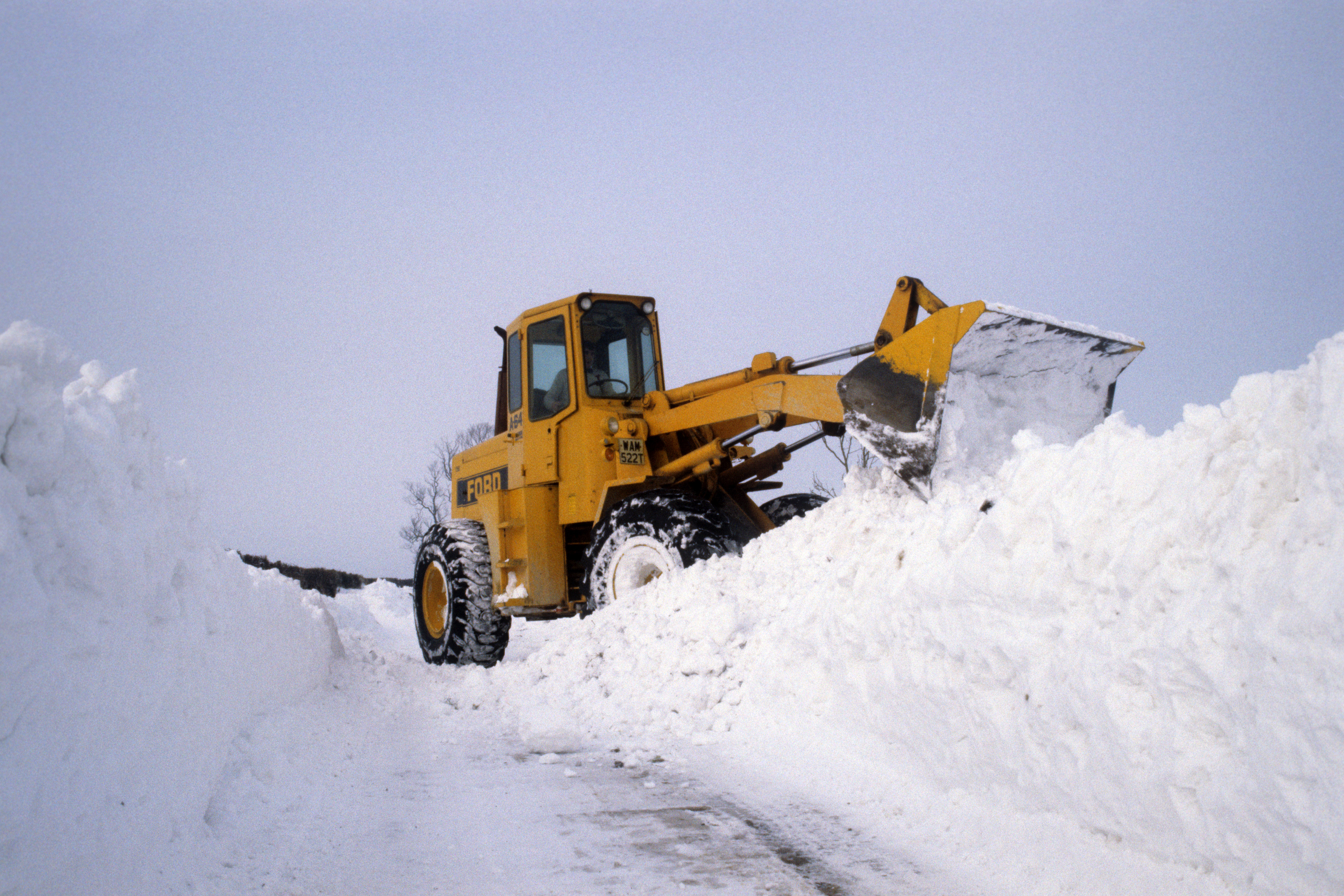Much of the UK was covered in snow during the freezing winter of 1981/82