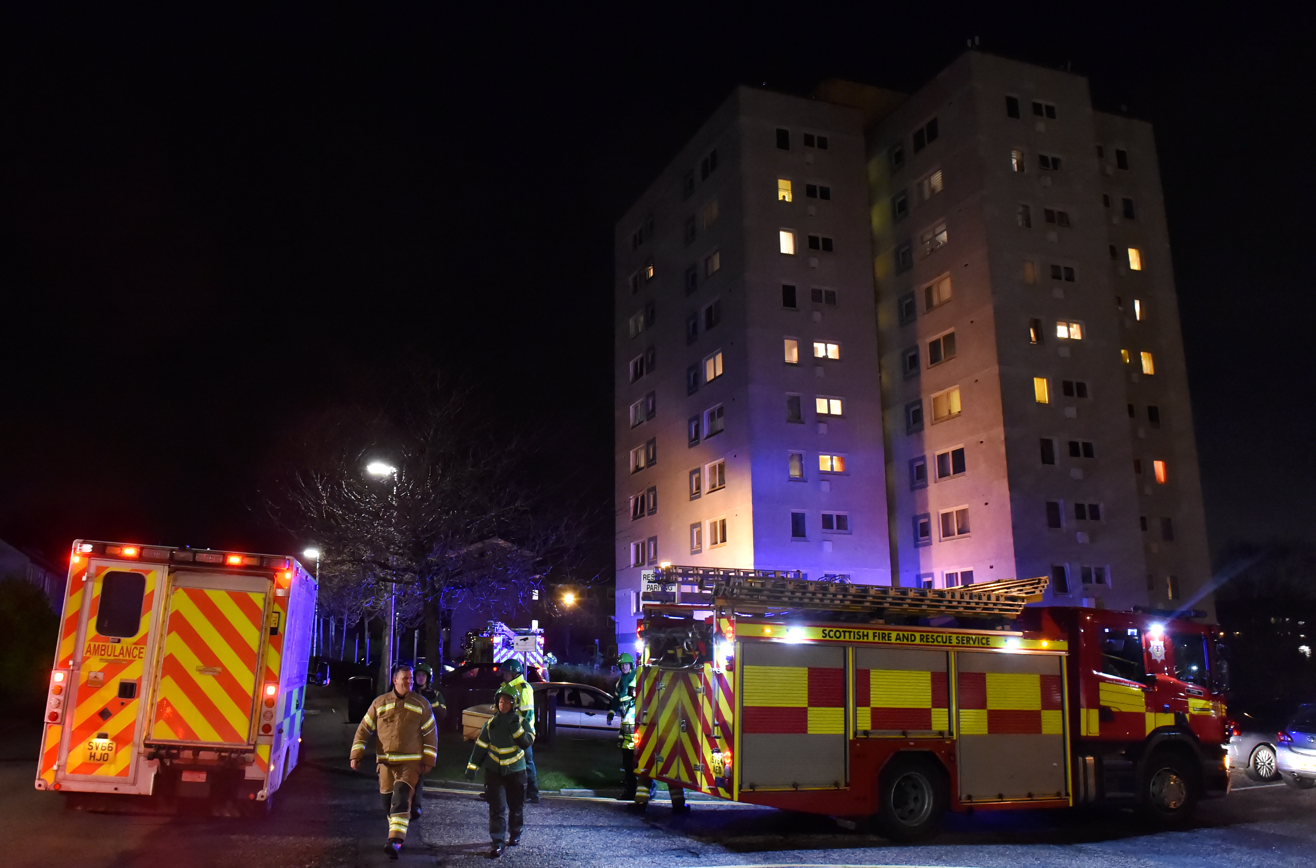 Fire crews at the scene of the blaze