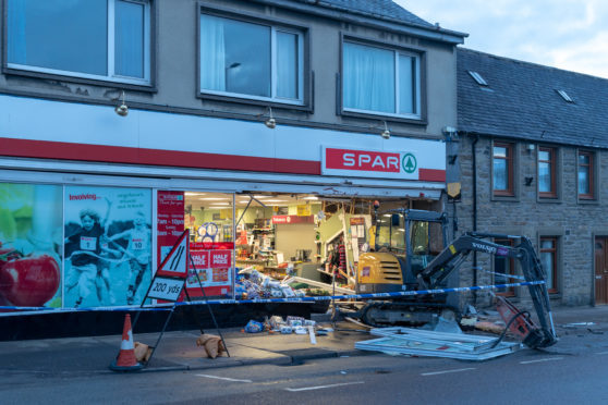 Significant damage was caused to the shop