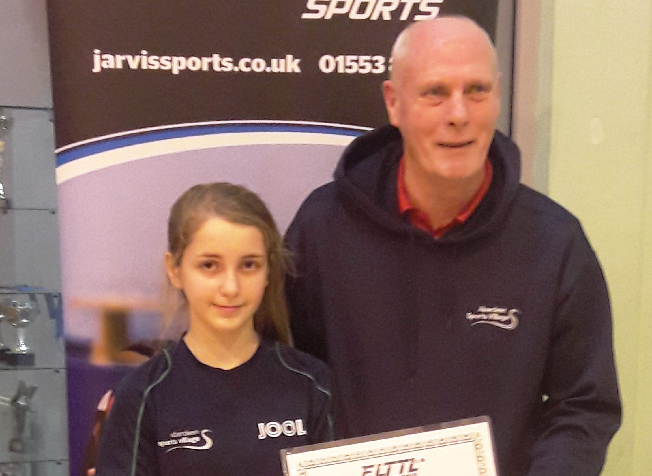 Hania with ASV Table Tennis Academy head coach Max Singer.
