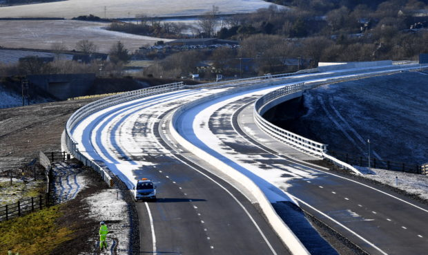 Transport Scotland has confirmed that the road will not be opened today, despite all work being complete