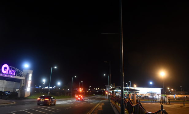 The street lights on Links Road have been damaged