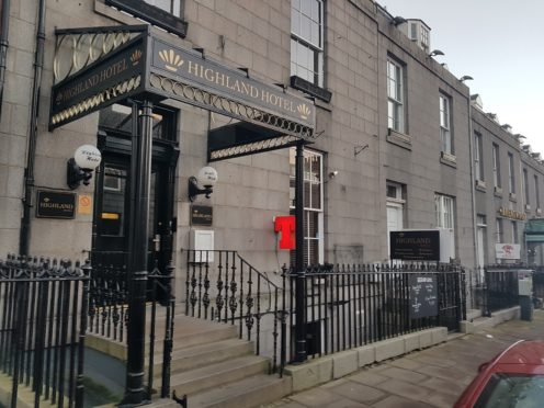 The Highland Hotel in Crown Street, Aberdeen, has closed its doors