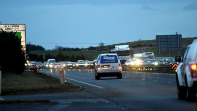 There were tailbacks today as a result of the crash