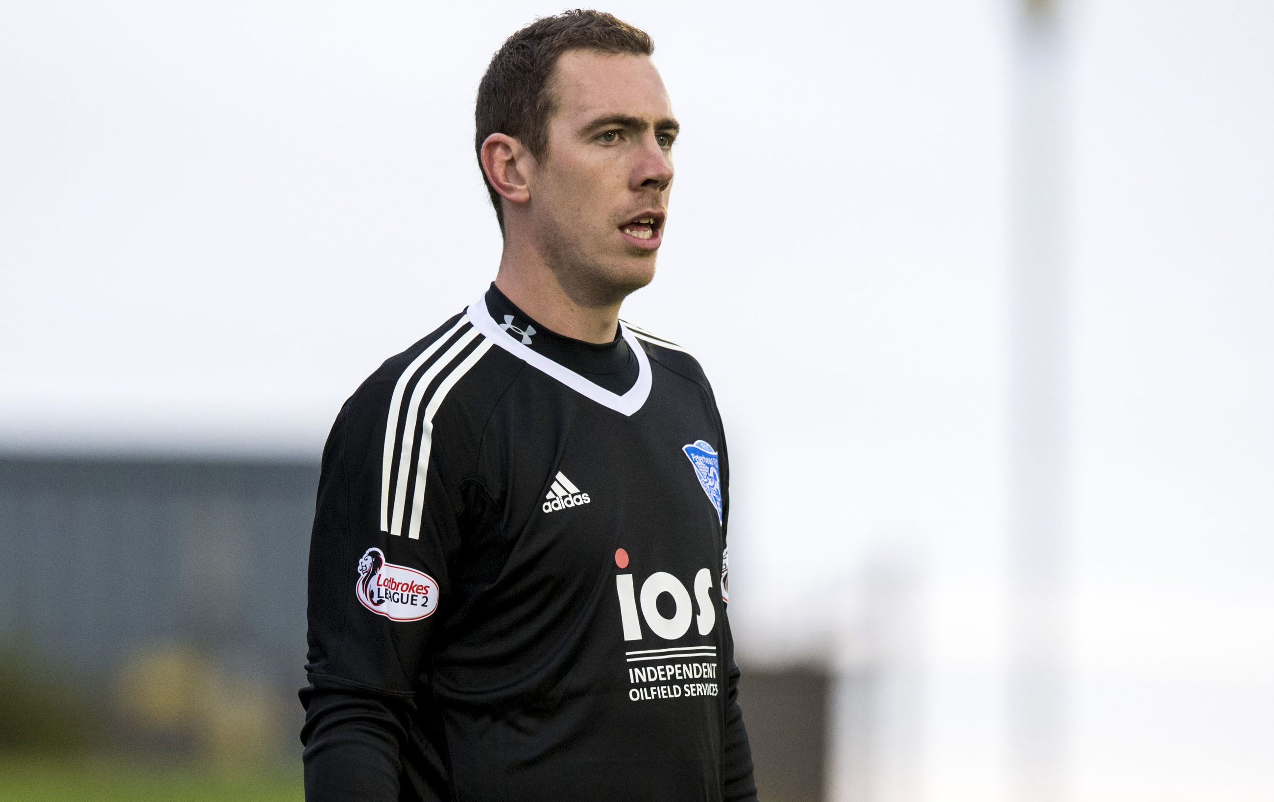 Greg Fleming in action for Peterhead.