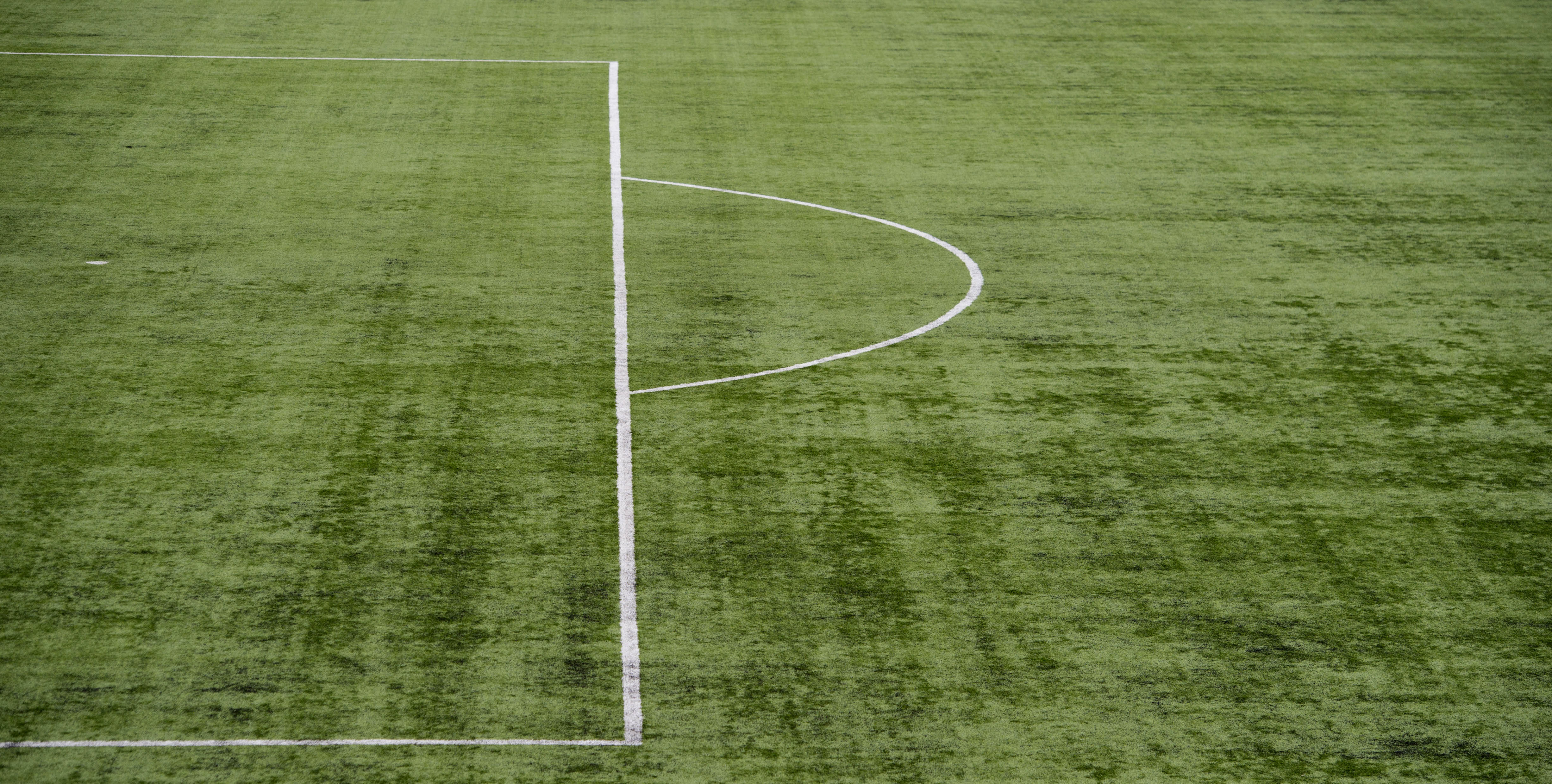 A general view of the astroturf pitch at Hamilton