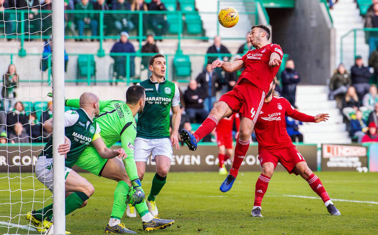 Aberdeen's Andy Considine scores to make it 1-1.