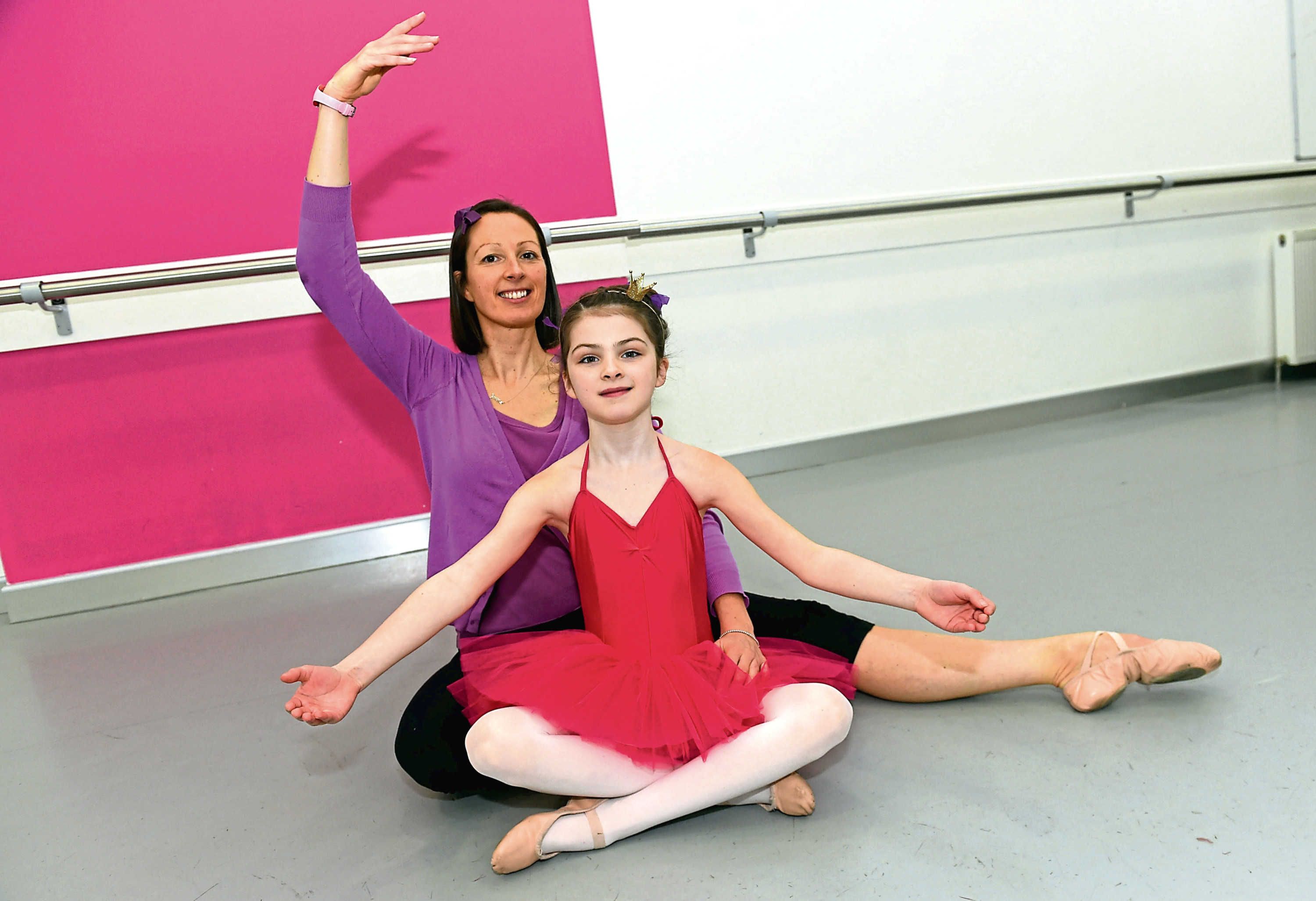 Ballet teacher Jemma McRae found it hard to keep the surprise from her eight-year-old daughter Izzy