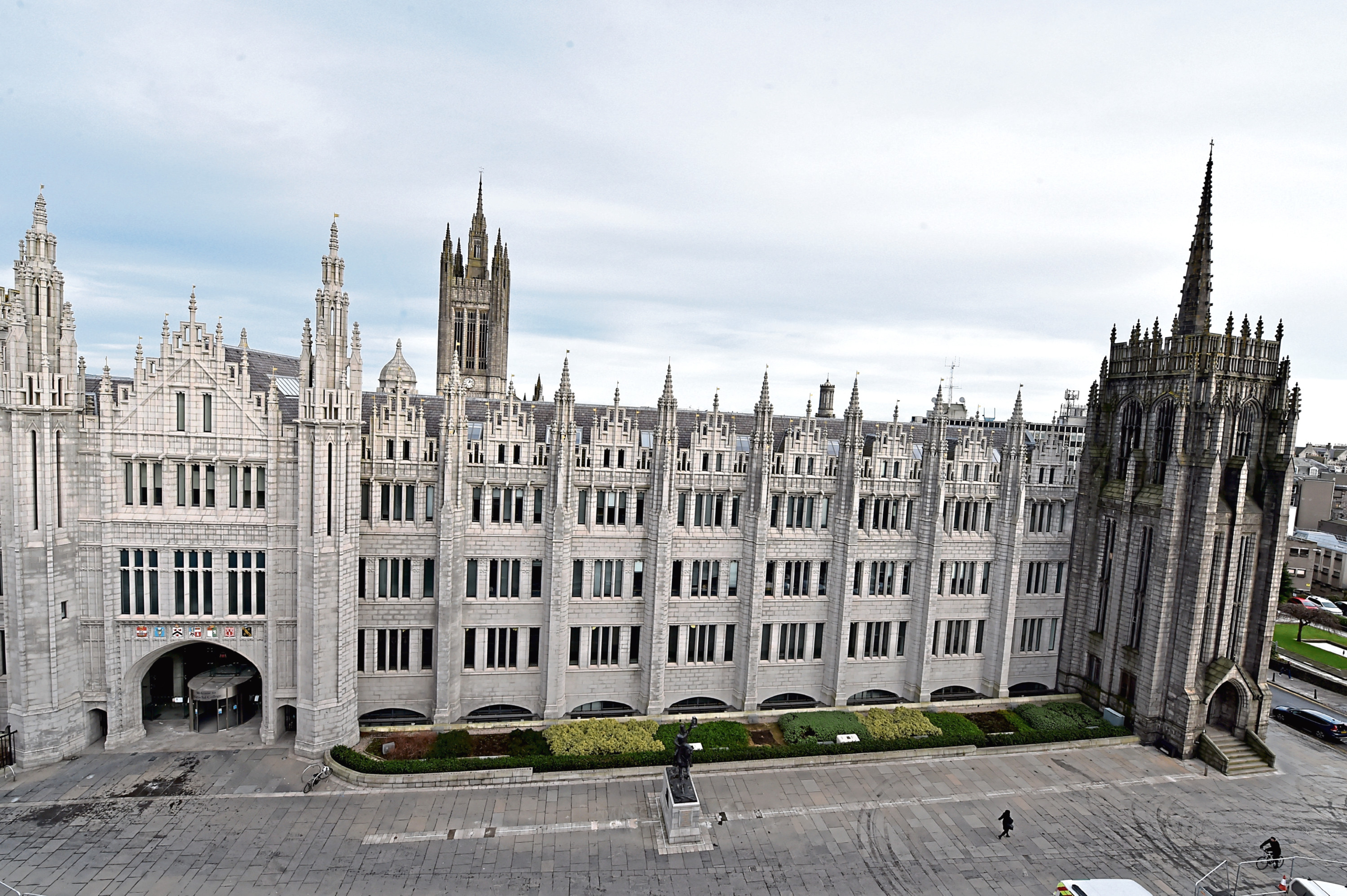 Protests will take place outside Marischal College on Friday