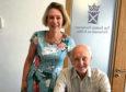 Duncan with Aberdeenshire MSP Gillian Martin