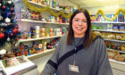 Claire Whyte at the opening of the Woodside Pantry Foodbank