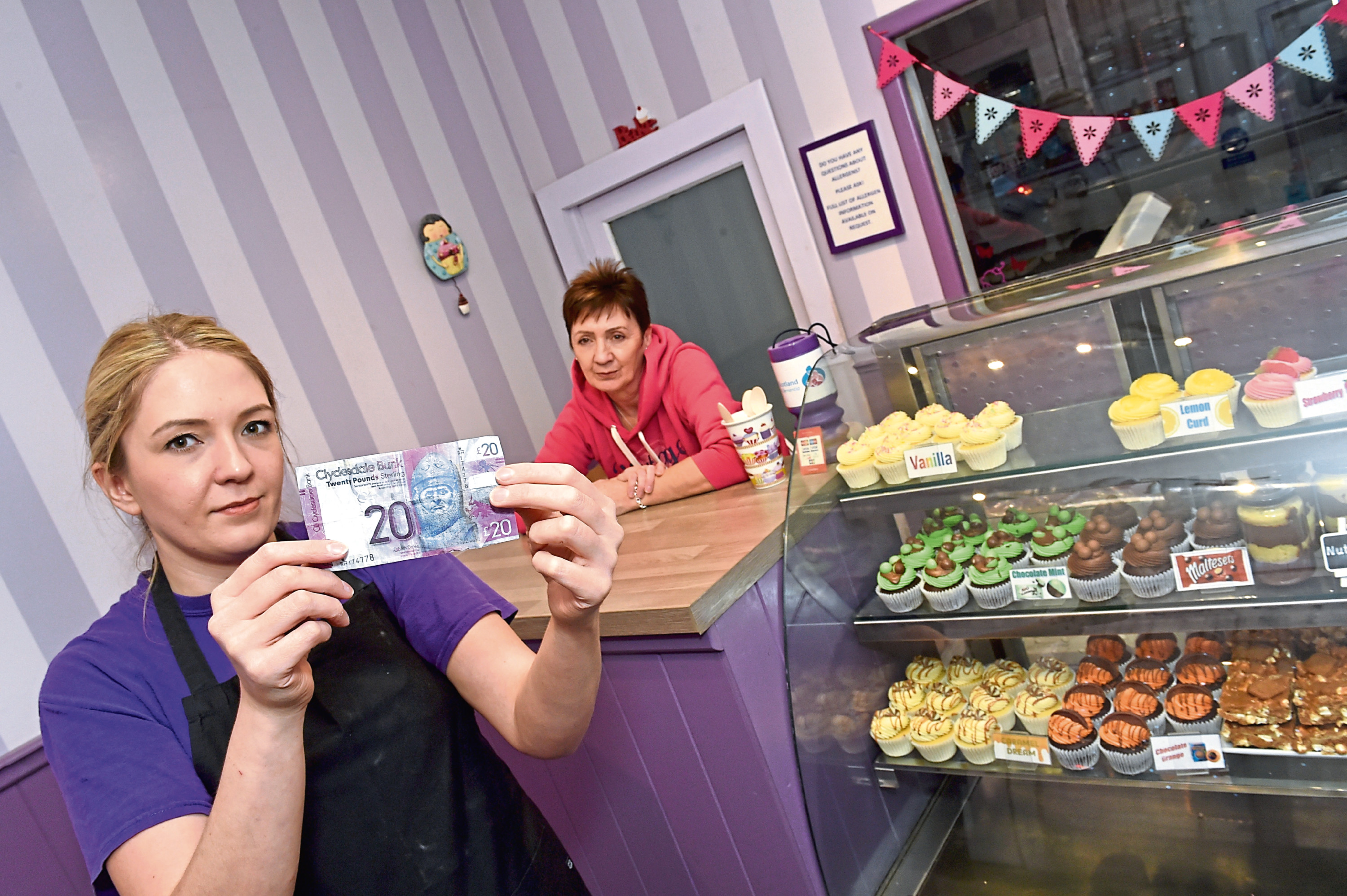 Cupcakes by Jo boss Jo Gale and her mum Lynn are warning others to look out for fake banknotes