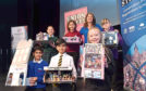 Pictured are from Front from left, Yusuf Rasool, 9 (Middleton Park School), Tejas Ghosh, 9 (Robert Gordon's School) and Wiktoria Walasek, 10 (Kittybrewster School).  Back from left, Kate Parker, 10 (Albyn School), Yasmine Hamai, 9 (Skene Square School), Councillor Marie Boulton and Charlie MacDonald, 11 (Heathryburn School). City school children have been involved in a project designing their ideal shops for Union Street. A celebration is being held at the Tivoli Theatre. Pupils representing the schools will collect participation certificates. Picture by DARRELL BENNS     Pictured on 27/11/2018