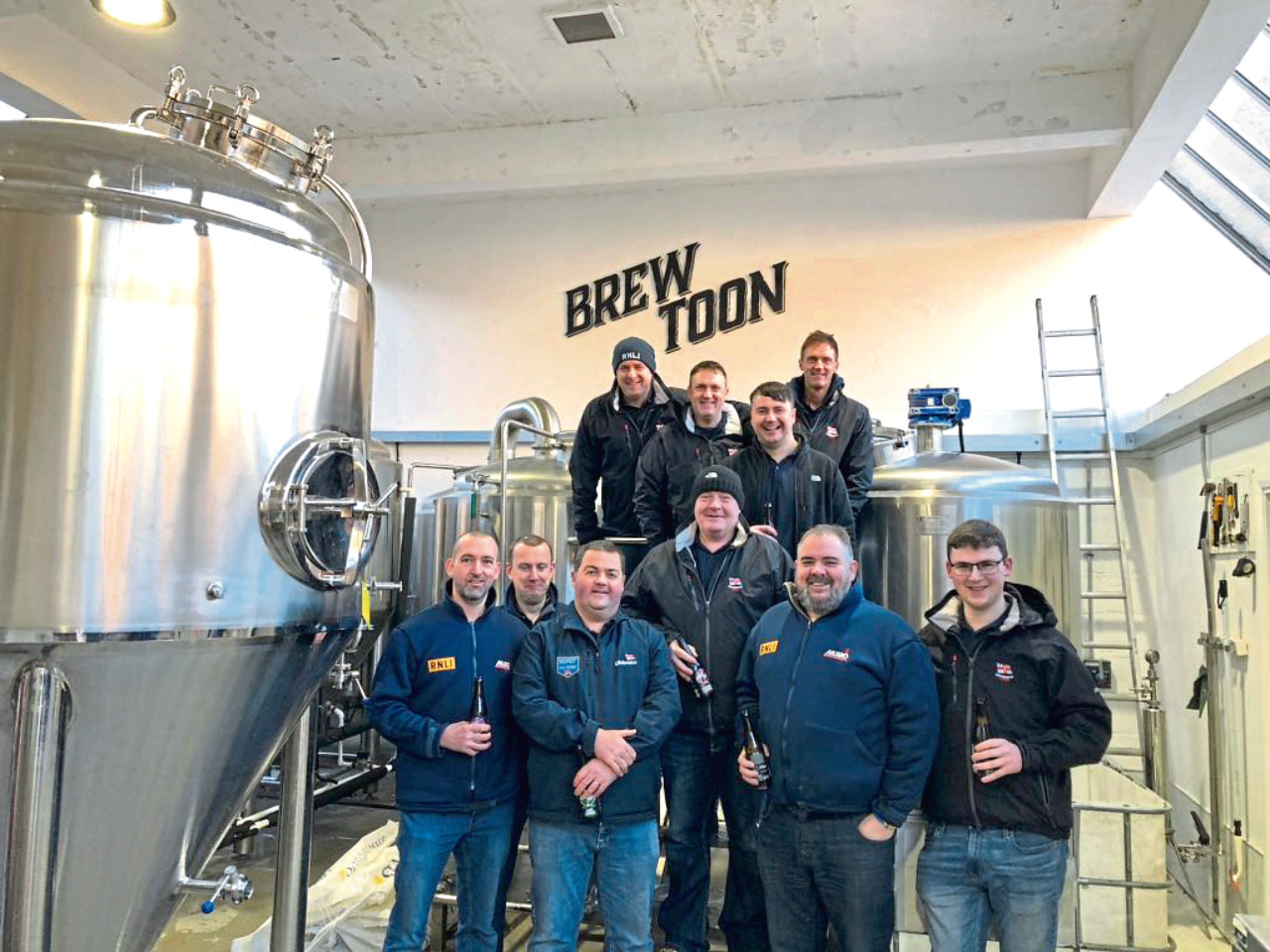The team visited the Brew Toon brewery to create the beer