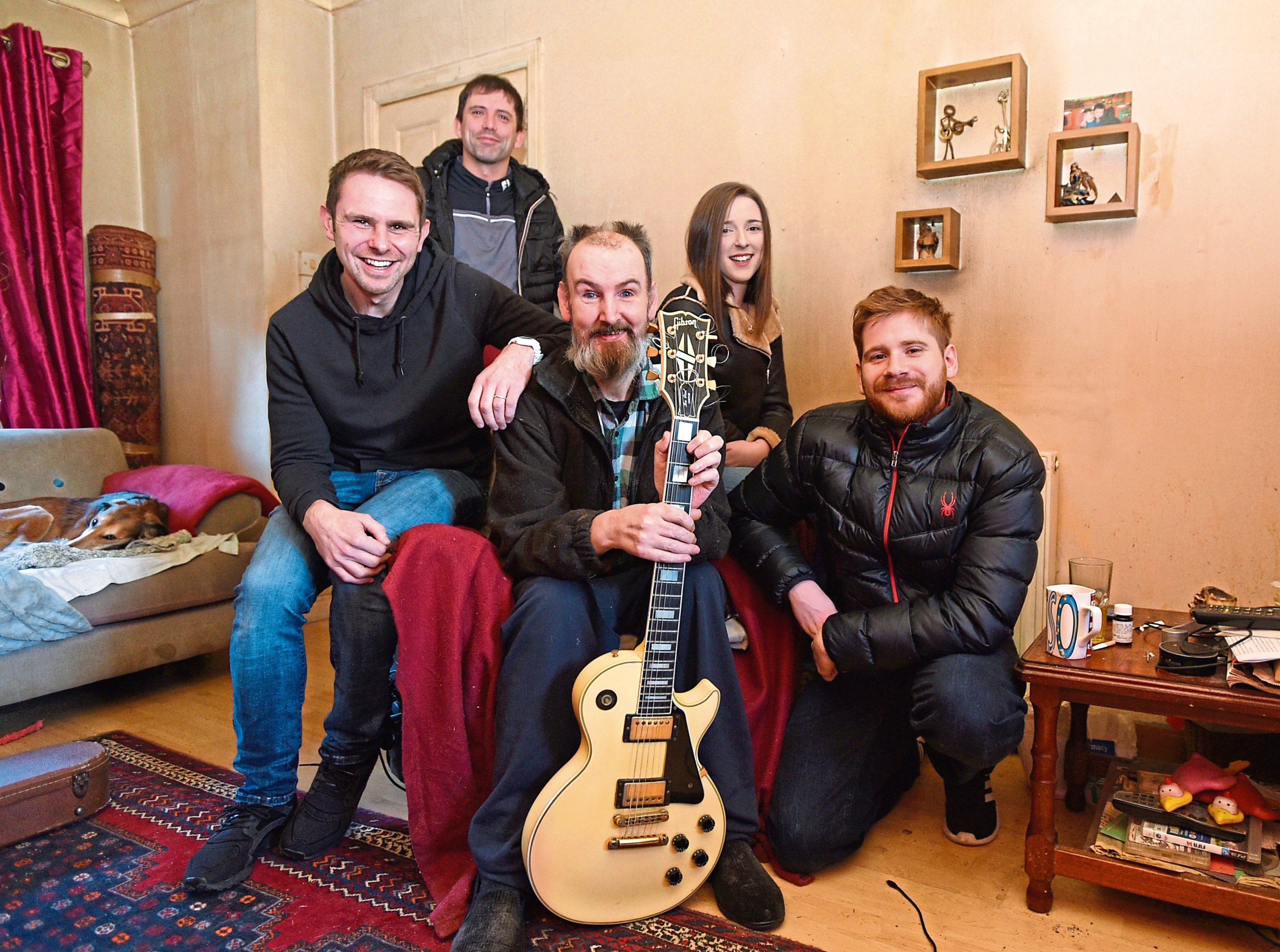 Sean McBain with the crew who will be filming a documentary on Beefy (Phil). From left, Sean McBain, Dean Ross, Phil (Beefy), Lauren McAllan and Kyle Rennie
