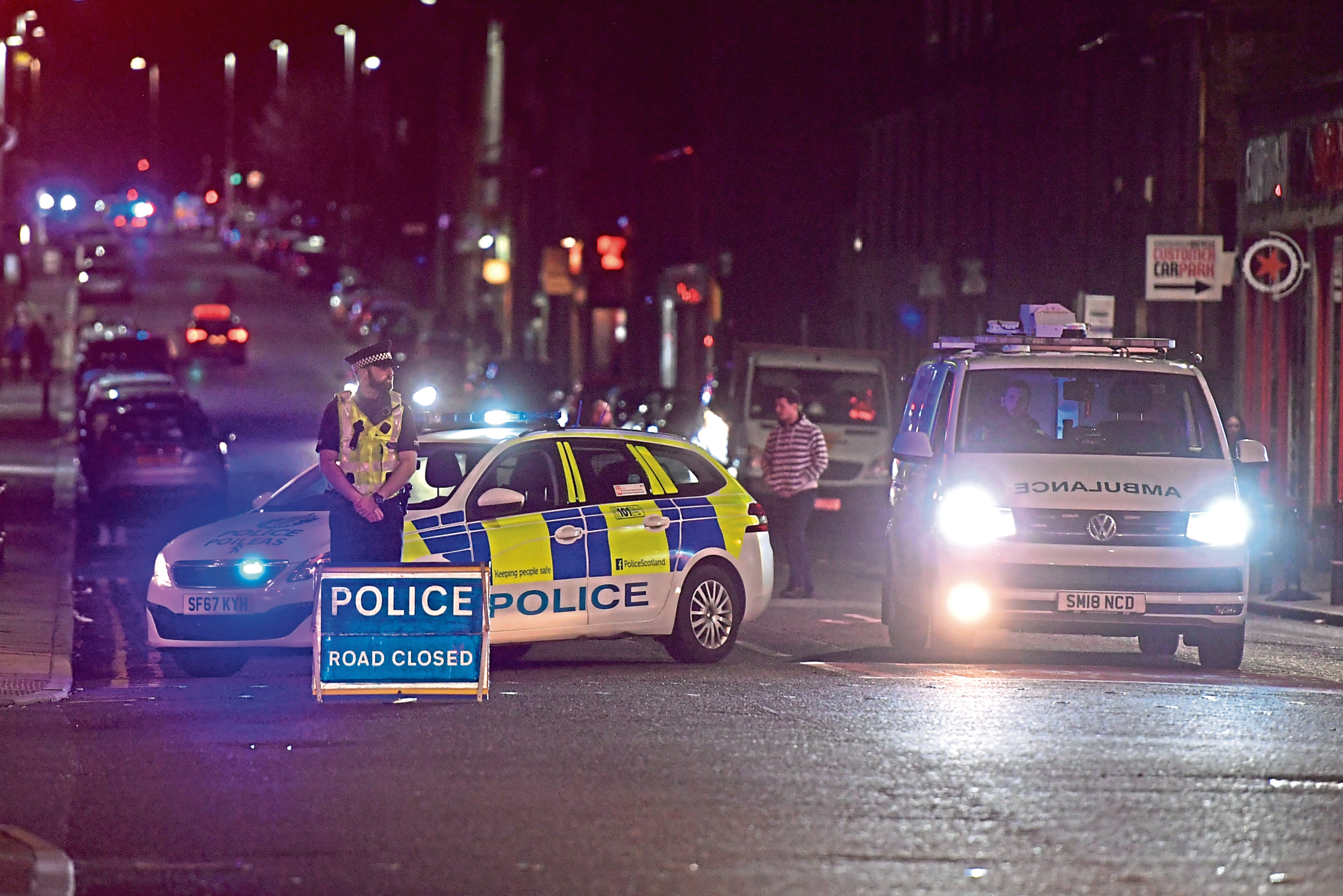 Police at the scene on George Street