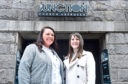 Kirsty Wilson, leader of City Hearts' Aberdeen branch, and Heidi Ogboke