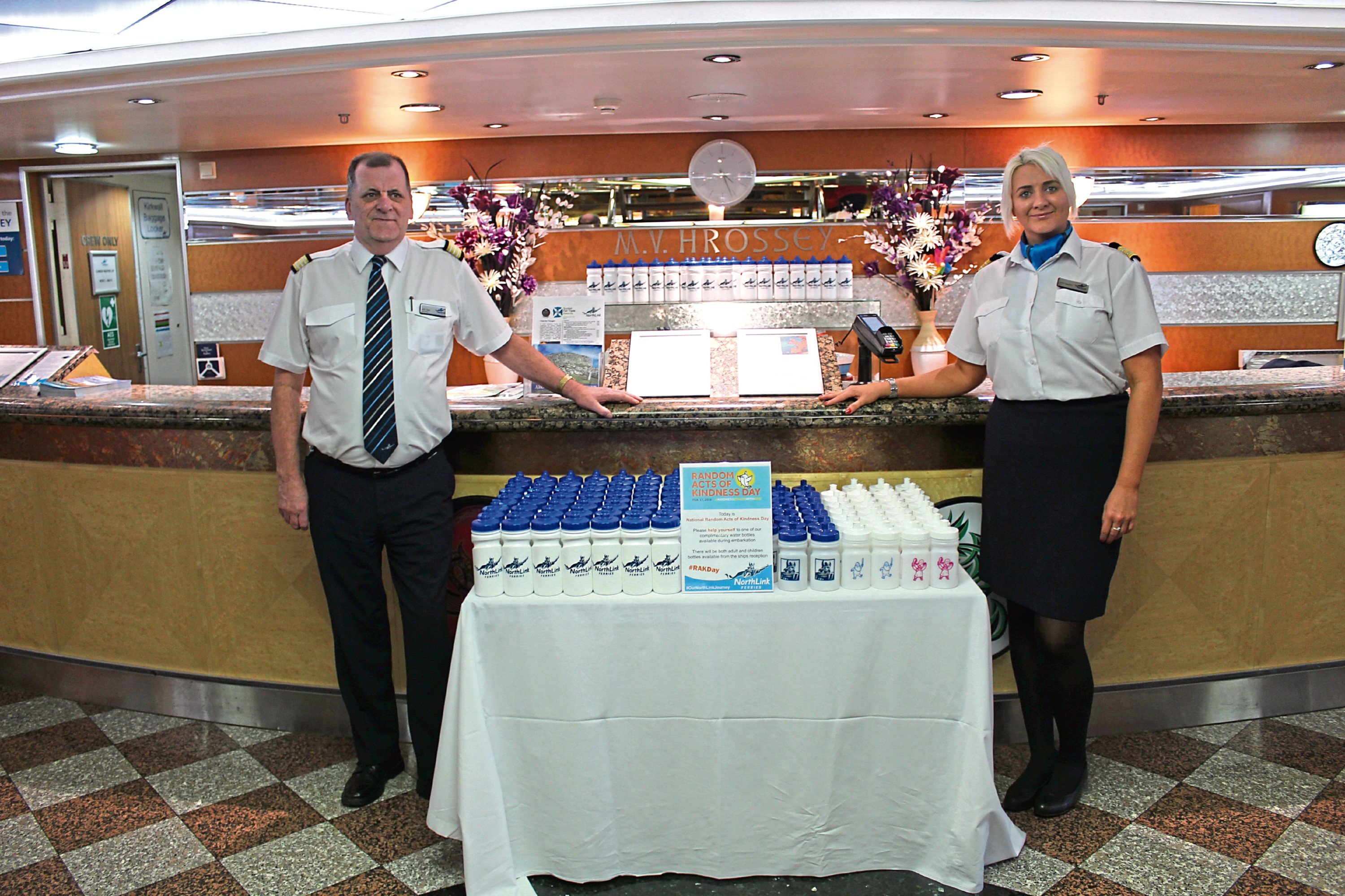 Passengers on NorthLink Ferries were treated to random acts of kindness
