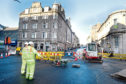 Works earlier this month caused delays in the area