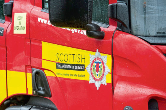 The blaze involved some tyres which had caught alight