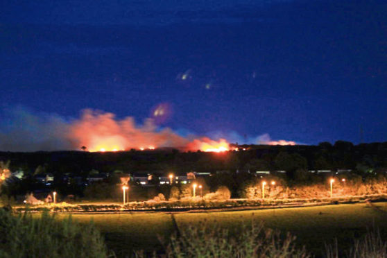 A warning has been issued for wildfires in the north-east