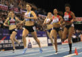 Zoey Clark (second left) wins the Women's 400 metres final during day two of the SPAR British Athletic Indoor Championships at Arena Birmingham.
