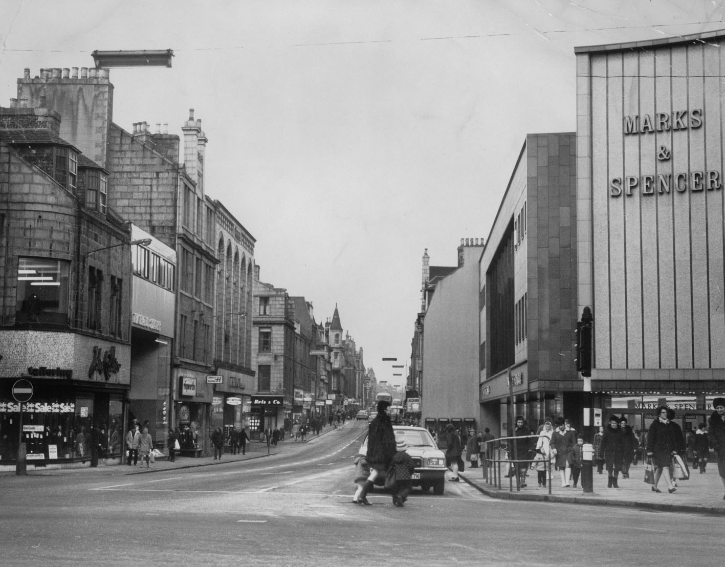 The Marks and Spencer store picture in 1973 when St Nicholas Road was still open
