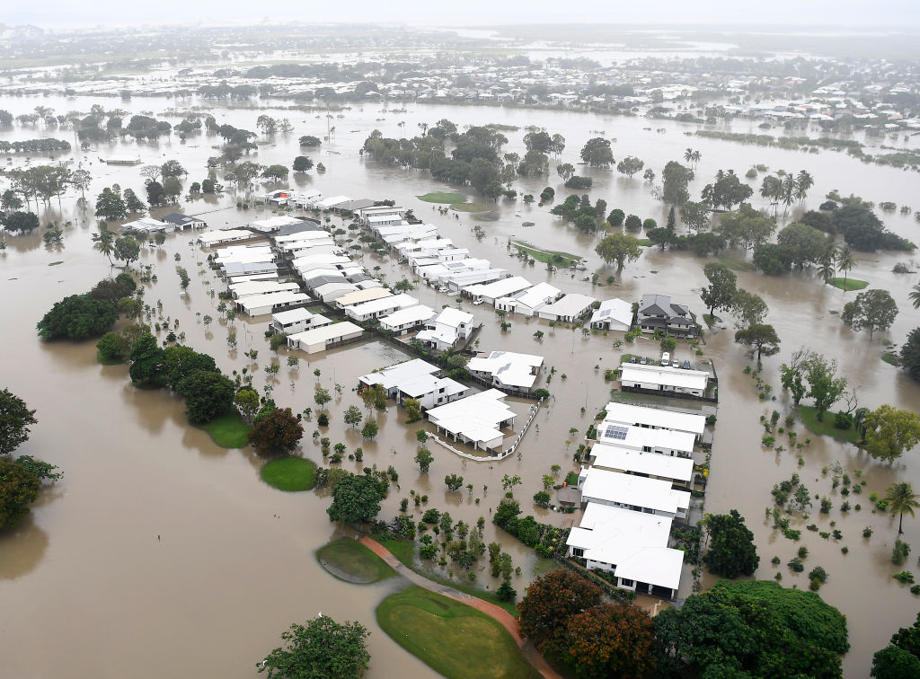 A general view of Townsville after the flooding