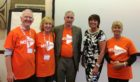 The volunteers are Les Kennedy, Chrissie Kennedy, Ian Gourlay, Pam Barclay and Brenda Reid