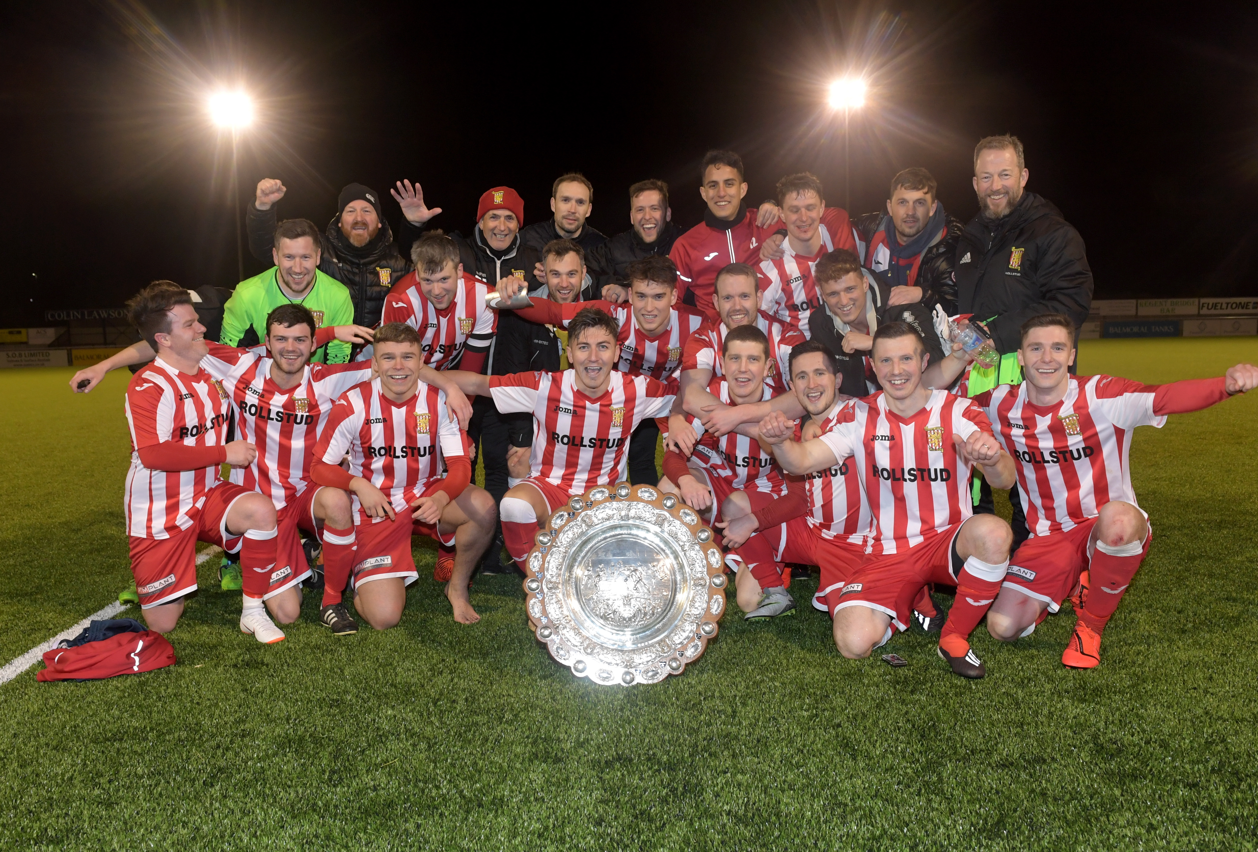Formartine United won last year's Aberdeenshire Shield. Pictures by Kath Flannery