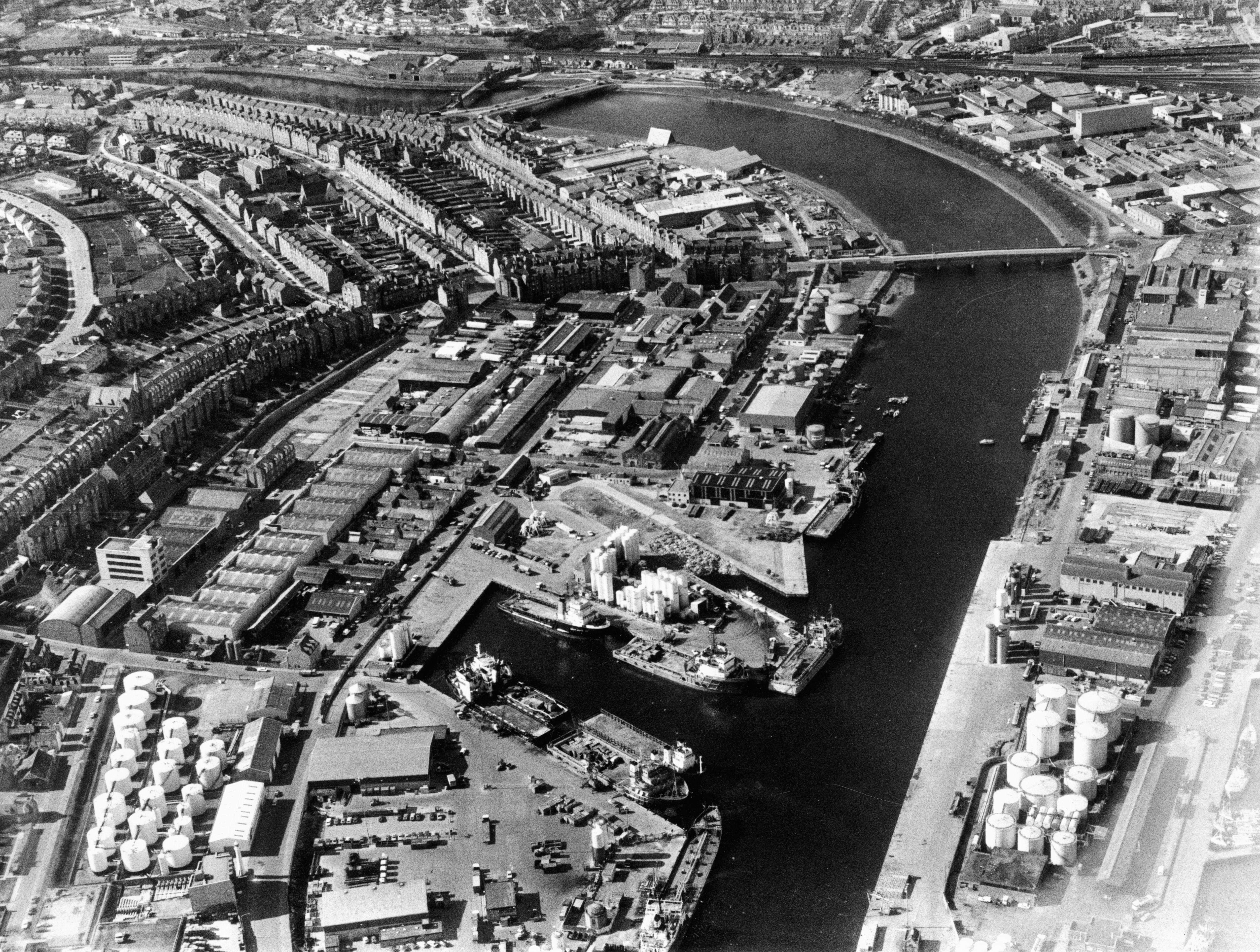 An aerial view of the Torry taken in 1986