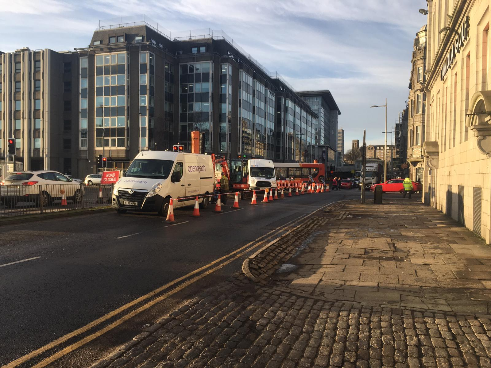 Openreach is working to repair the fault at the Market Street junction