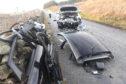 The scene of the crash on the Coast Road