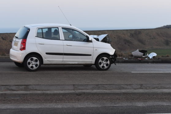 The crash involved a car and a lorry
