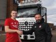 Aberdeen's Lewis Ferguson, left and manager Derek McInnes. Picture by Chris Sumner