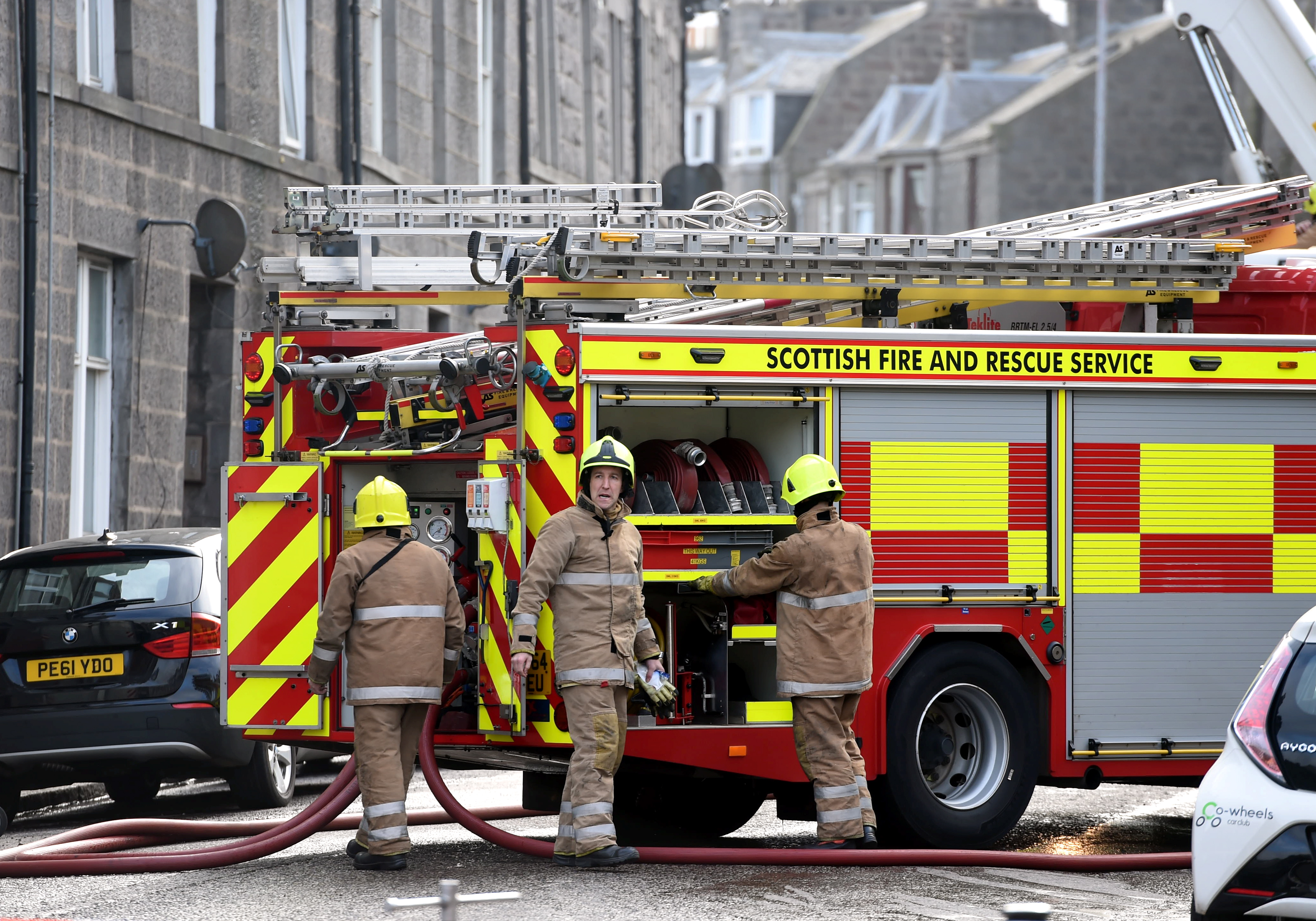 Fire crews at the scene on Victoria Road last April