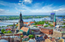 Aerial view of the centre of Riga