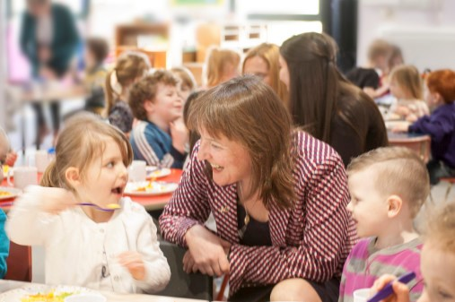 Minister for children and young people, Maree Todd MSP, at the nursery