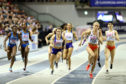 Zoey Clark of Great Britain in action during the final of the women's 4x400m relay on day three of the 2019 European Athletics Indoor Championships at Emirates Arena on March 3, 2019 in Glasgow, Scotland.