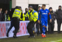 Rangers captain James Tavernier in the aftermath of Friday's incident.