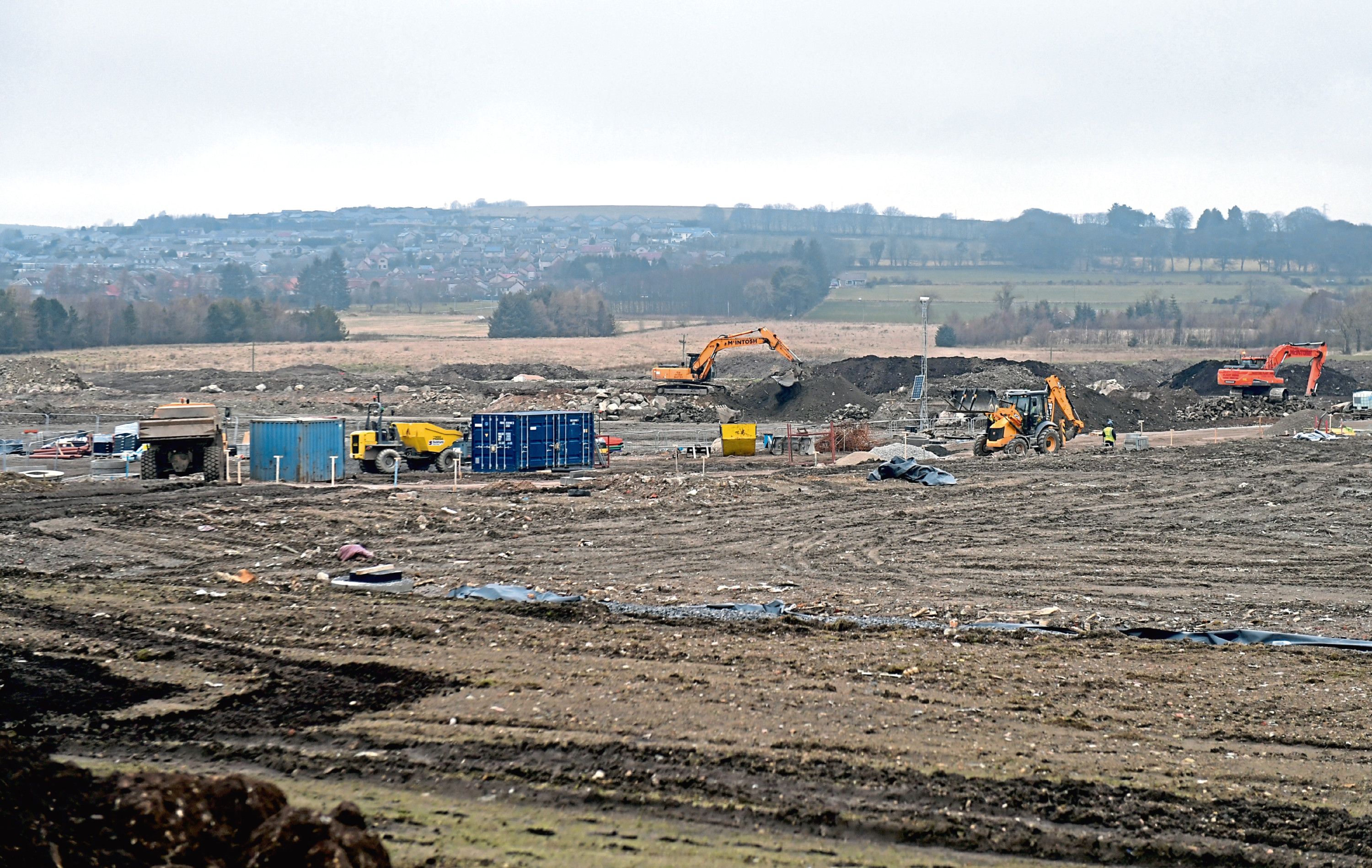 Work is going on at the new Kingsford Stadium site.