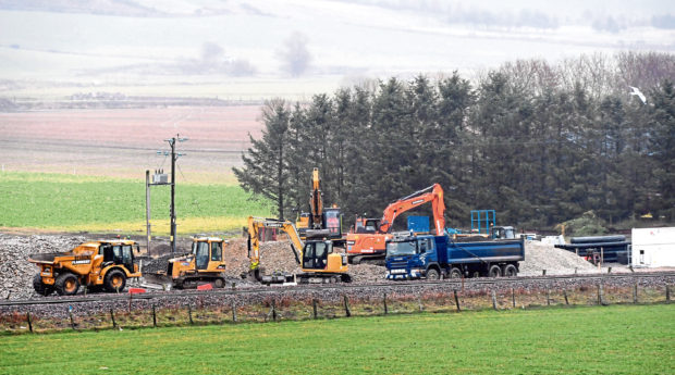 Work is under way to clear the ground ready to build the new Kintore Station
