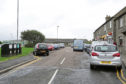 Parents waiting outside South Park School in Fraserburgh