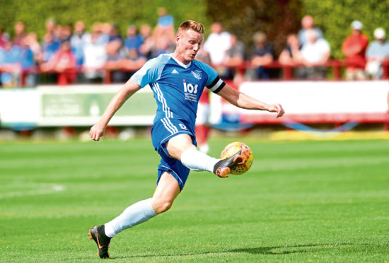 Peterhead captain Rory McAllister. Picture by Darrell Benns