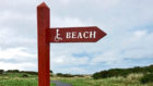 The sign at Balmedie Beach which has since been damaged by vandals