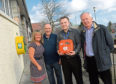 Bakery owners Fiona and Alistair Rait, Steven Lamb and Ian McRae from St Nicholas Rotary Club.